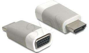 ADAPTER DELOCK HDMI-A (M) -> VGA(F) MINI ROZMIAR