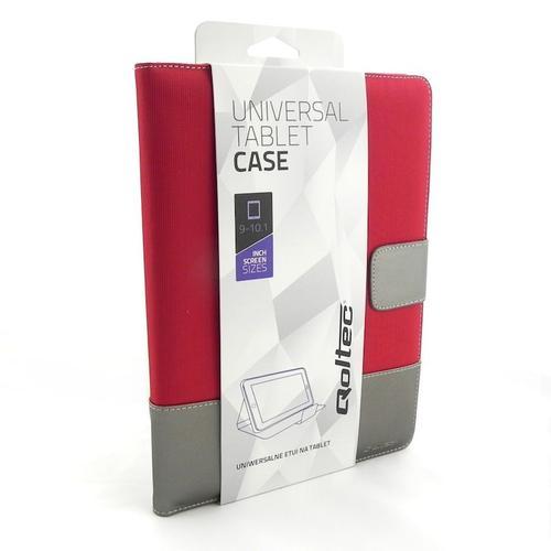 Qoltec Uniwersalne etui do Tabletu 9-10.1 cala, czerwony