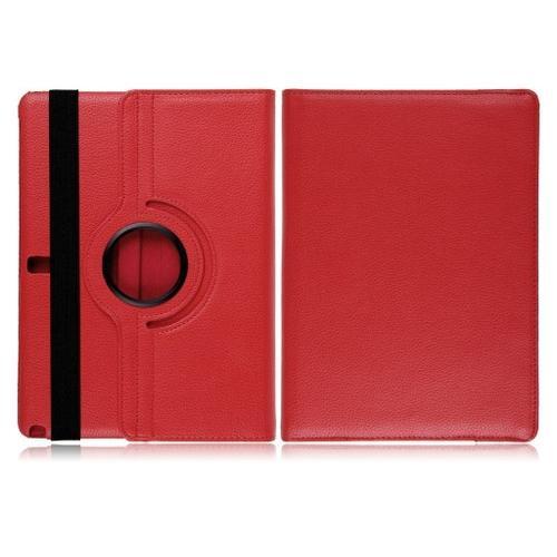 """WEL.COM Etui obrotowe 360° Galaxy Note Pro 10"""" P600/P601 czerwone"""