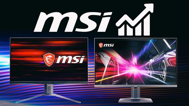 MSI jest najszybciej rozwijającą się marką monitorów!