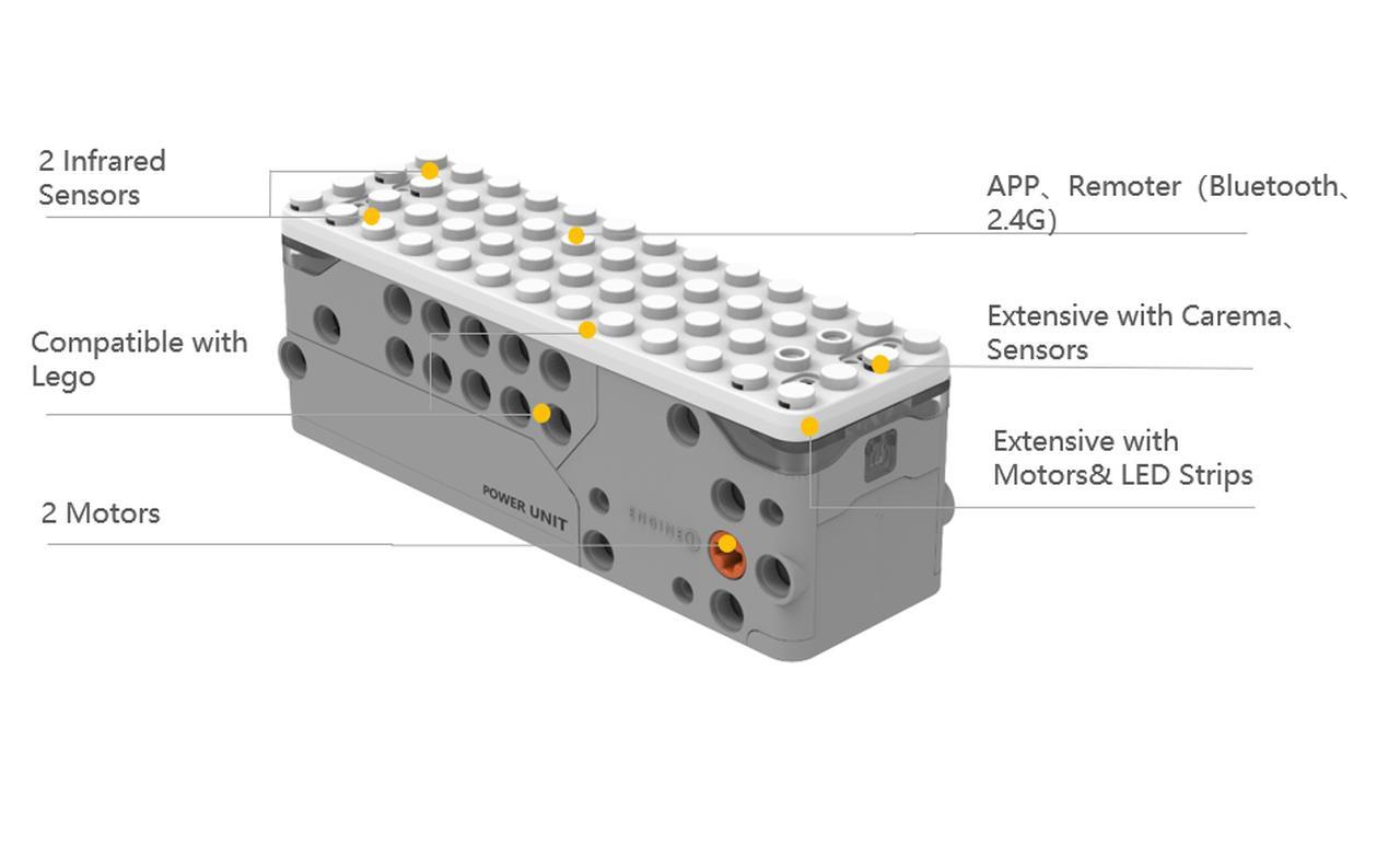 Kontrola Apitor SuperBota jest możliwa dzięki modułowi podczerwieni