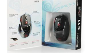 NATEC Mysz GENESIS G55 USB GAMING 2000 DPI + DPI Switch + Burst Fire Button