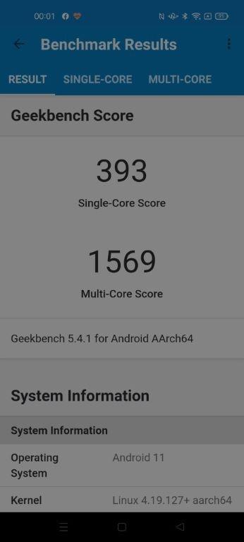 OPPO Reno5 Lite Geekbench 5
