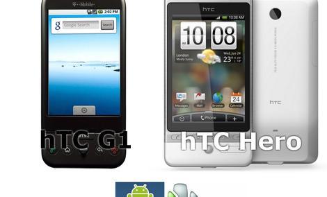 Porównanie modeli HTC - G1 i Hero
