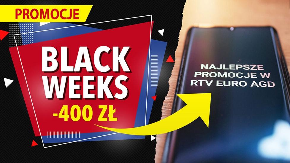 Black Weeks w RTV Euro AGD! Mi Note 10 Lite taniej 400 zł, TV Sony - 500 zł