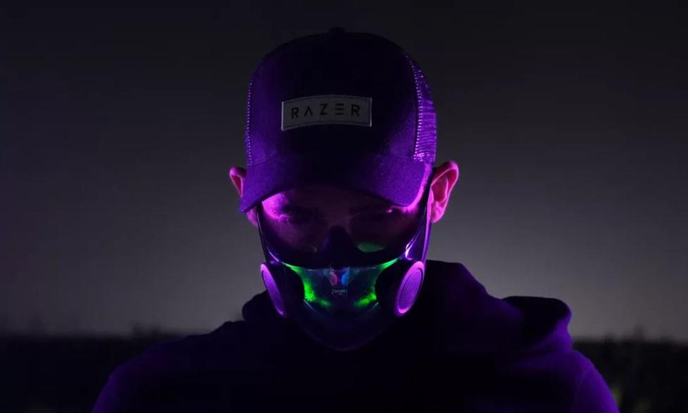 Maska N95 od Razera z podświetleniem RGB i modulatorem głosu