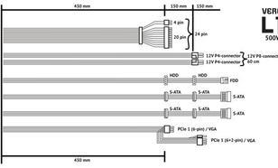 Vero L1 500W PSU 80Plus 2xPEG