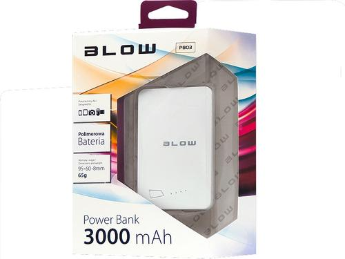 Blow Power Bank 3000mAh 1xUSB Bialy(White)