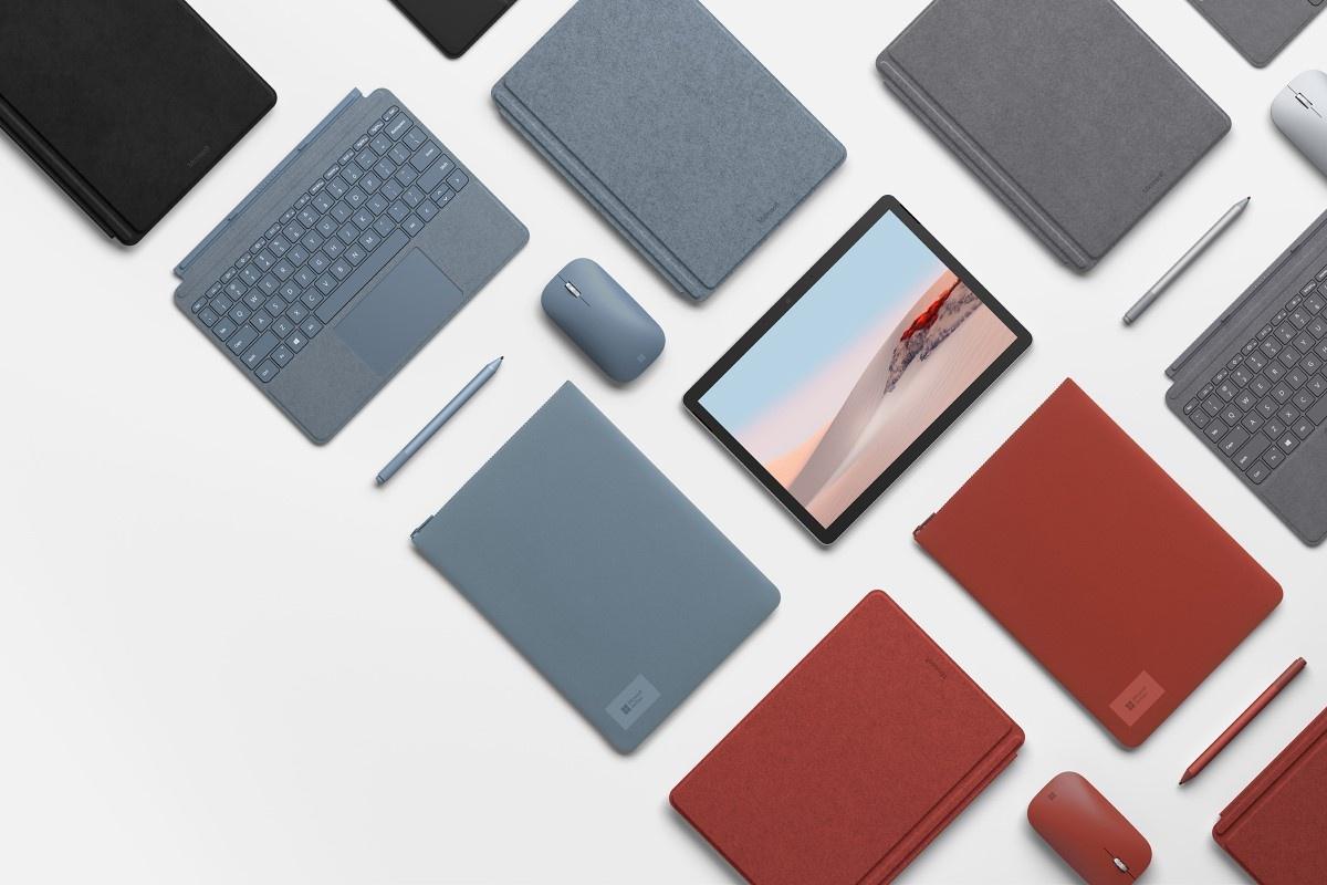 Różne kolory Surface Go 2