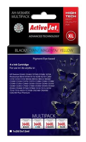 ActiveJet AH-M364RX multipack tusz czarny, cyan, magenta, żółty do drukarki HP (zamiennik HP 364XL SD534EE) Premium