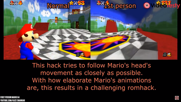 Super Mario 64 w VR