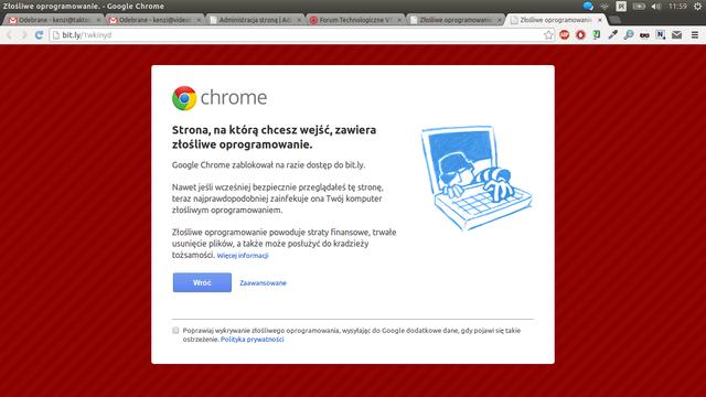 Problem ze skróconymi linkami bit.ly w przeglądarce Chrome