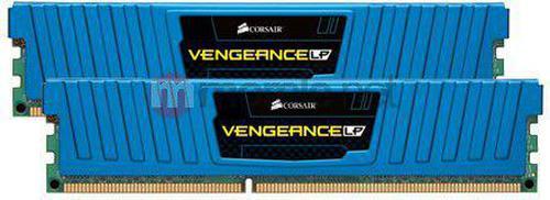 Corsair Vengeance Low Profile 2x4GB 1600MHz, DDR3, CL(9-9-9-24), XMP, Blue (CML8GX3M2A1600C9B)