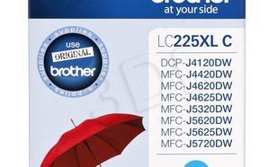 BROTHER Tusz Niebieski LC225XLC=LC-225XLC, 1200 str.