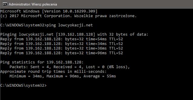 lowcyokazji.net - adres IP strony