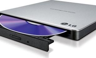 LG HLDS Zewnętrzna nagrywarka DVD GP57ES40, Ultra Slim Portable,