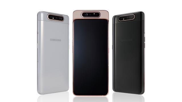 Samsung Galaxy A80 w trzech kolorach