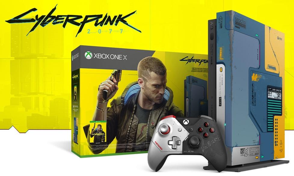 Limitowana cyberpunkowa edycja Xbox One X i słuchawek SteelSeries Arctis 1