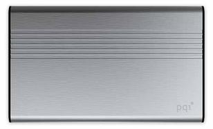 PQI POWER BANK 5000VmAh DUAL-USB 2,4/1,5A, GRAY, ALUMINIOWY
