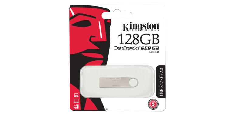Kingston DataTraveler SE9 G2 128 GB w opakowaniu