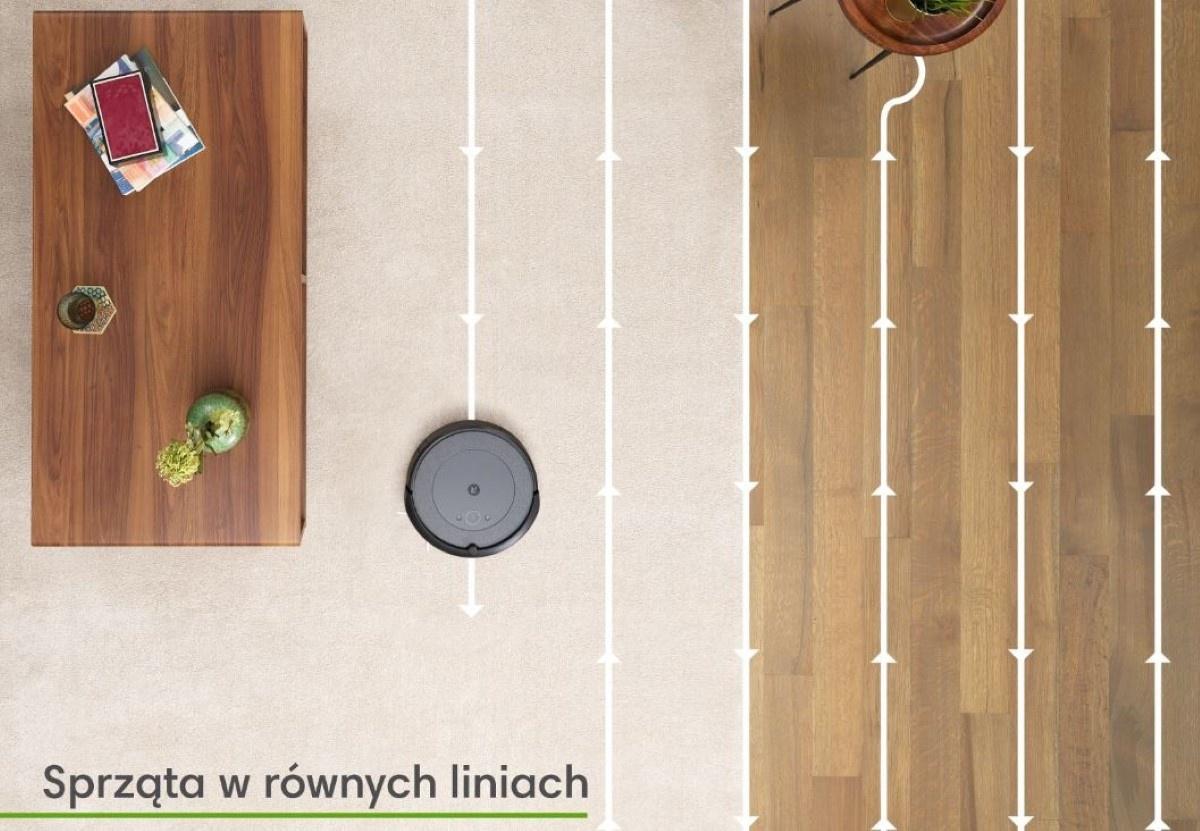 iRobot Roomba i3 sprzątanie w równych liniach