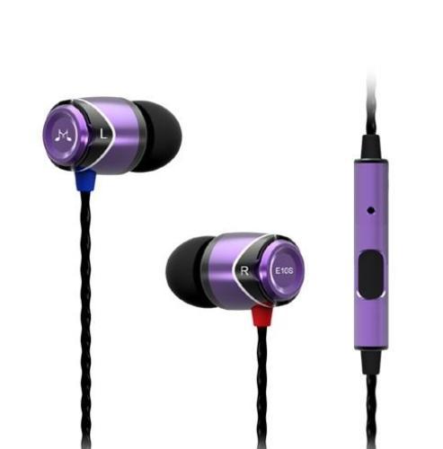 SoundMAGIC E10s fiolet uniwersalne słuchawki do smartphonów