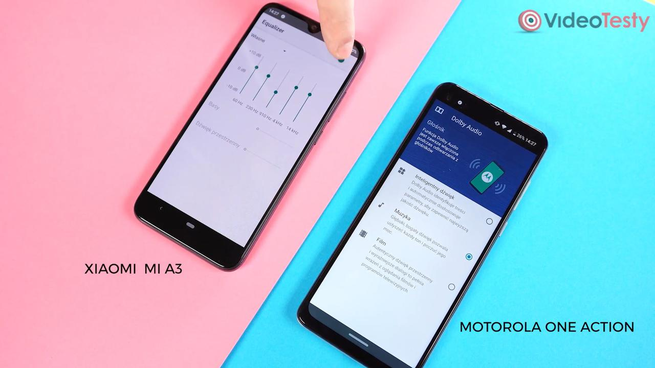 Motorola One Action posiada Equalizer od Dolby, który lepiej wyciąga dźwięki