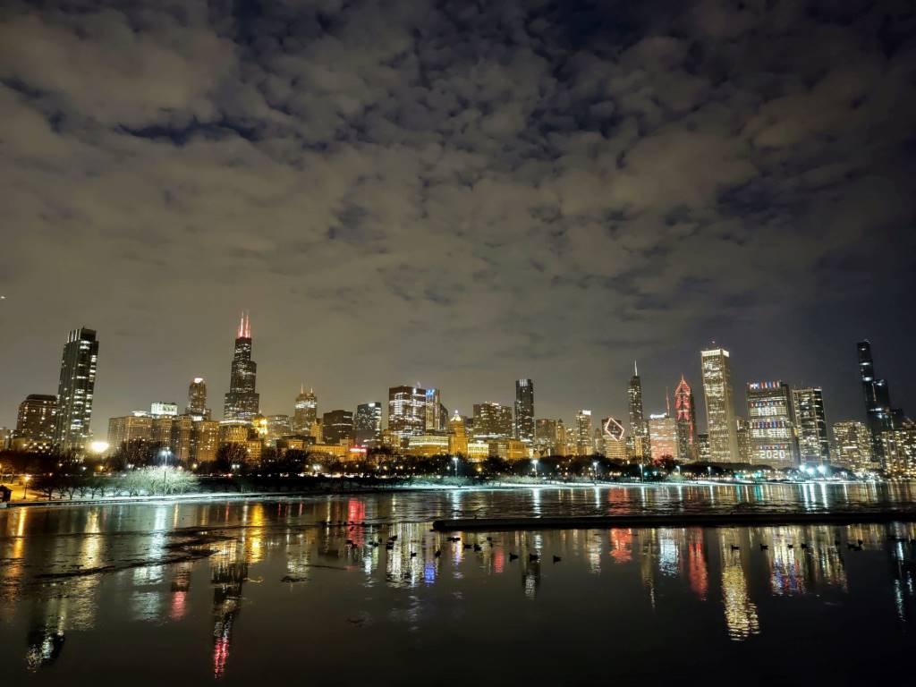 Zdjęcie zarejestrowane nocą z trybem Night Vision