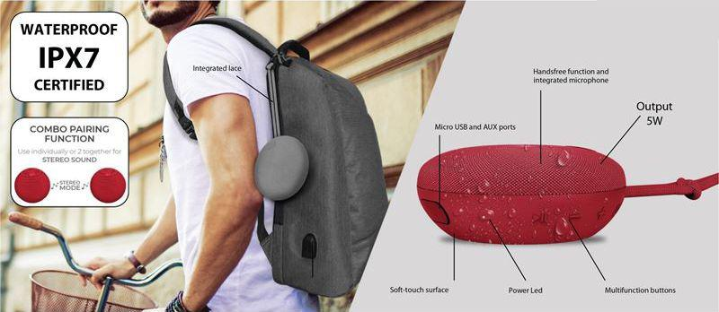 PURO External Handy 2 Speaker IPX7 (niebieski)