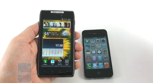 Motorola DROID RAZR vs Apple iPhone 4S
