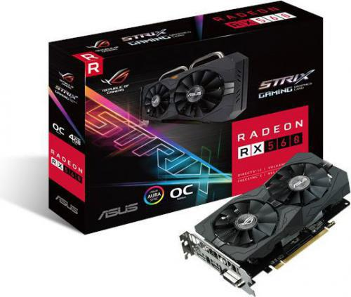 Asus Radeon RX 560 ROG STRIX O4G Gaming 4GB GDDR5 (128 bit), DVI-D, HDMI, DisplayPort, BOX (ROG-STRIX-RX560-O4G-GAMING)
