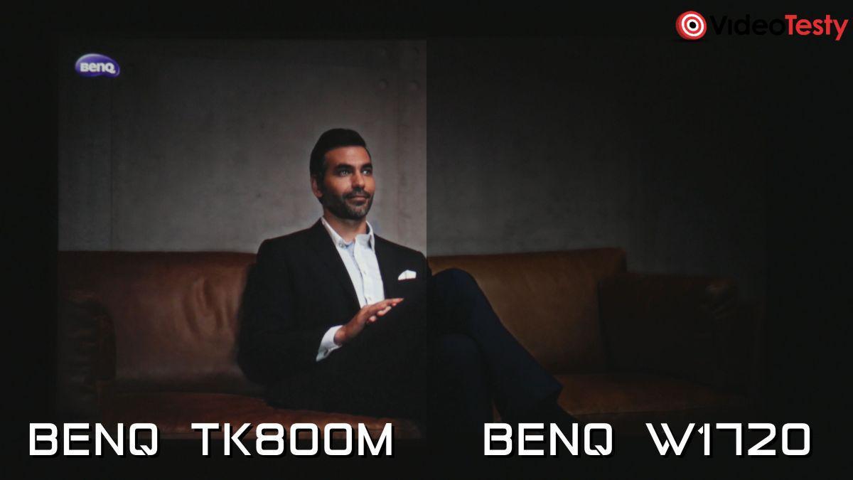 BenQ TK800M i BenQ W1720 porównanie czerni