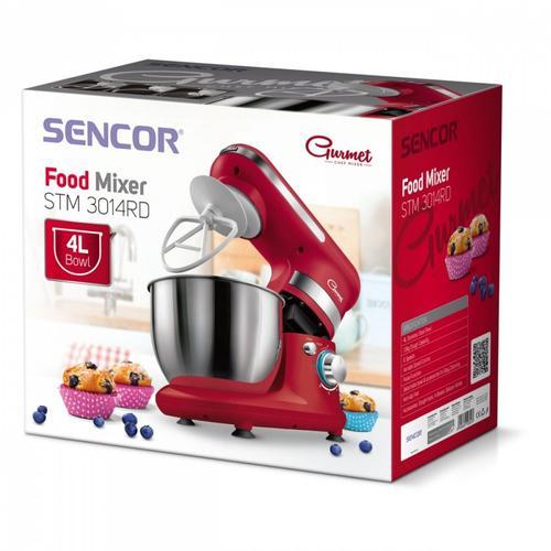 SENCOR Robot kuchenny STM3014RD,450 W, poj.misa 4L,3 nasadki,6 predkosci