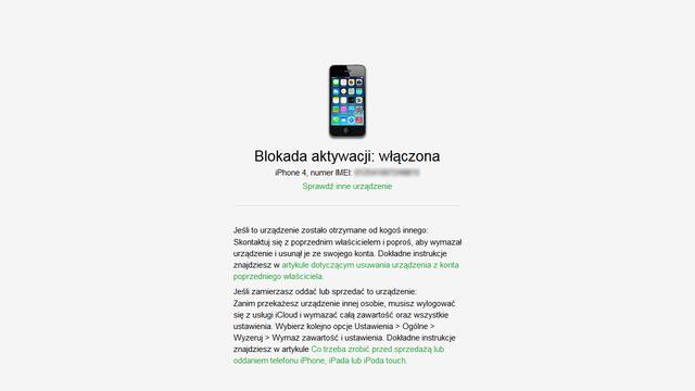 Blokada iCloud