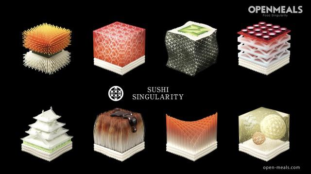 Sushi wydrukowane w 3D może sie różnić