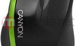 Canyon Optical Mouse Czarno-zielony CNR-MSO01NG