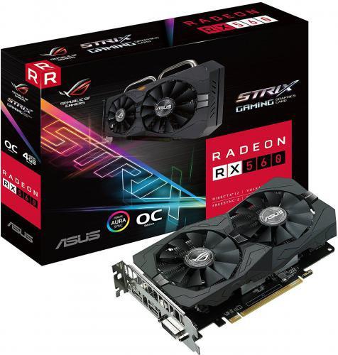 Asus Radeon RX 560 ROG Strix Evo Gaming OC 4GB GDDR5 (128 bit), DVI-D, HDMI, DP (ROG-STRIX-RX560-O4G-EVO-GAMING)