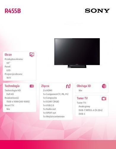 Sony 40'' LED KDL-40R455B