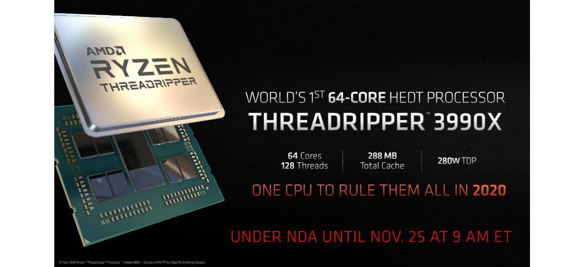 AMD Threadripper 3990X - data premiery