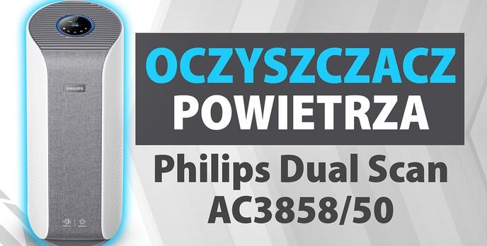 Test oczyszczacza powietrza Philips Dual Scan AC3858/50