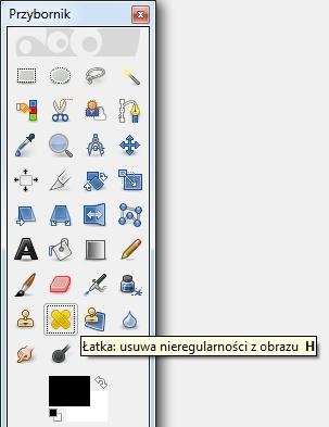 Narzędzie Łatka GIMP