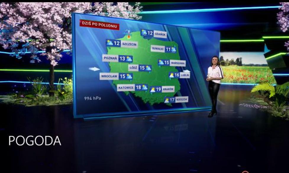 Nowa prognoza pogody w TVP skorzysta z silnika Unreal Engine