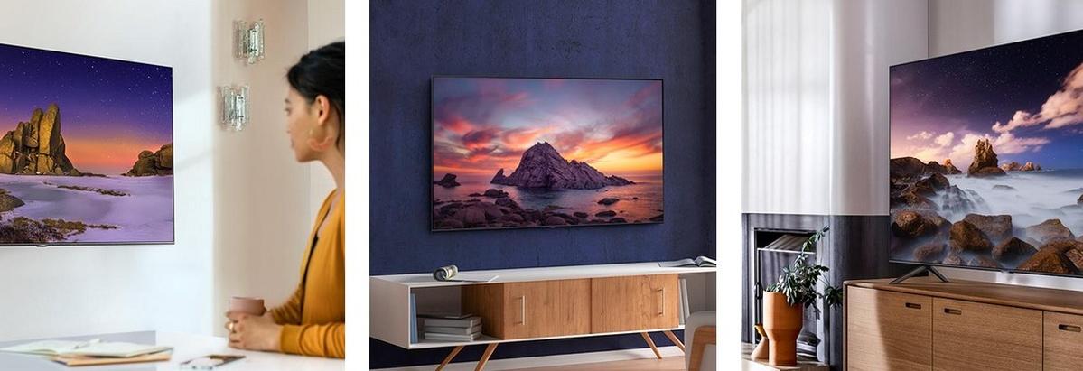 Telewizor Samsung QLED prezentuje się nowocześnie w każdym salonie