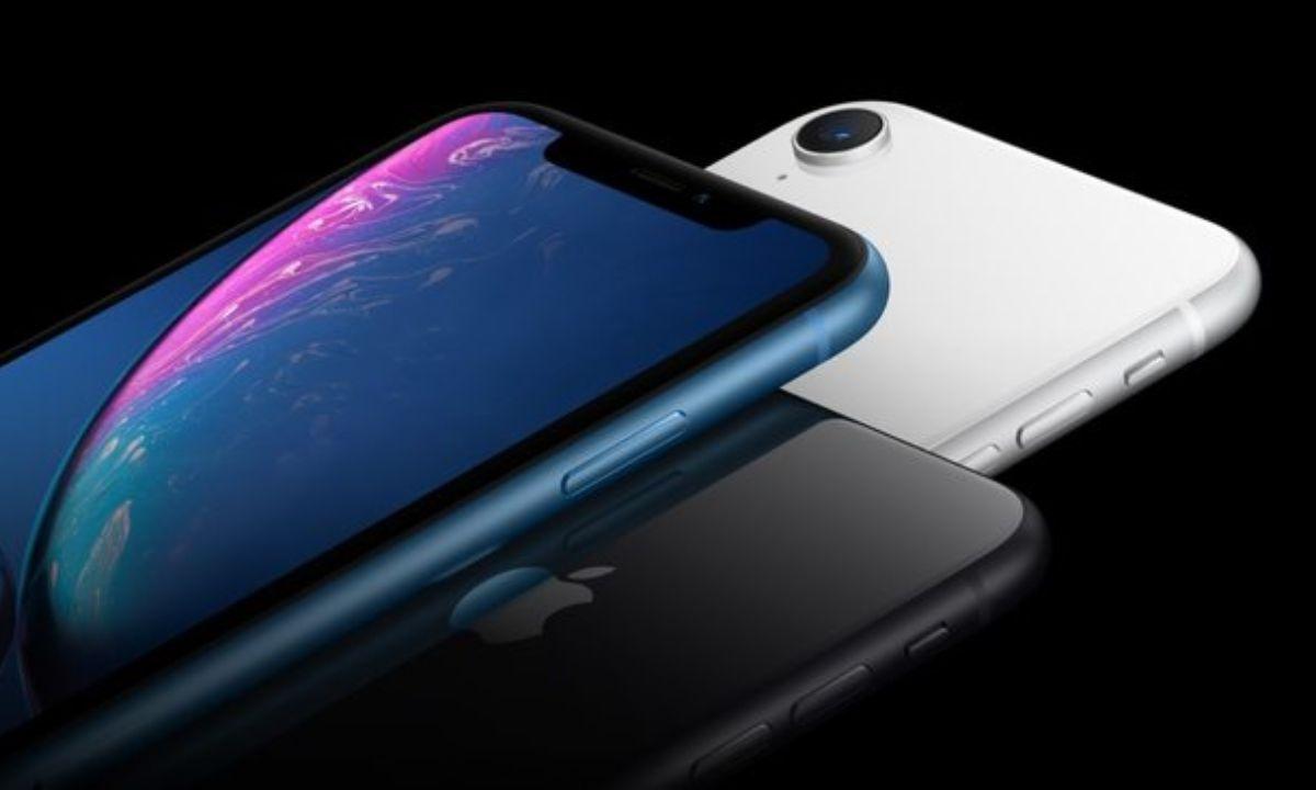 grafika promująca smartfony marki Apple