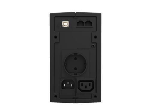 Lestar UPS MD-525S 525VA/300W AVR 1xSCH + 1xIEC USB RJ11 BL