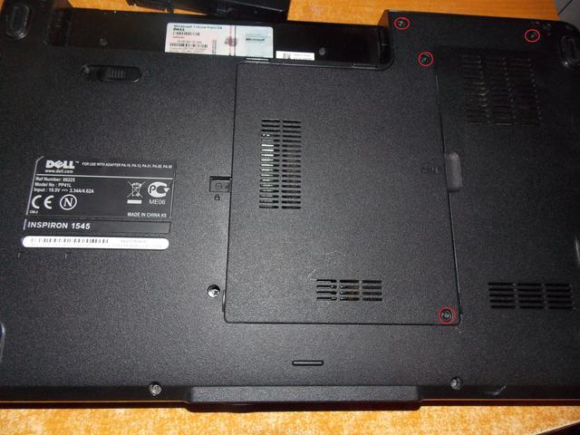 Dell Inspiron 1545 rozkręcanie