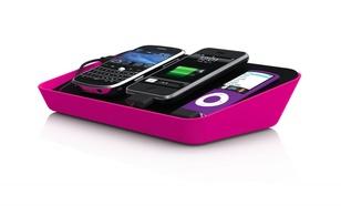 Bluelounge Refresh stacja dokująca (microUSB, miniUSB, USB, 30-PIN) różowa