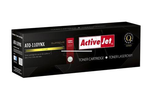 ActiveJet ATO-110YNX żółty toner do drukarki laserowej OKI (zamiennik 44250721) Supreme