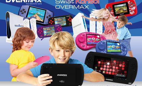 Konsole OVERMAX to gwarancja dobrej zabawy dla całej rodziny!