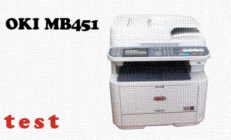 OKI MB451 test urządzenia wielofunkcyjnego 4 w 1